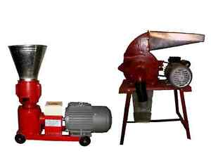 PELLET MILL / PELLET PRESS & HAMMER MILL COMBO PACKAGE!!!   3HP 1  PHASE 220V