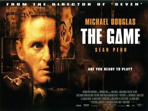 The Game Movie Poster Michael Douglas Sean Penn David ...