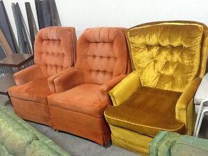 Single Swivel Upholstered Rocking Chairs