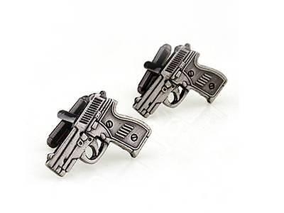 Gun Cufflinks - Groomsmen Gift - Men's Jewelry - Gift Box