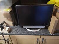 """Dell 20"""" PC monitor with soundbar"""