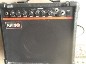 Rhino RGA15 Guitar Amplifier - only for sale due to downsizing my Guitar & Amplifier collection.