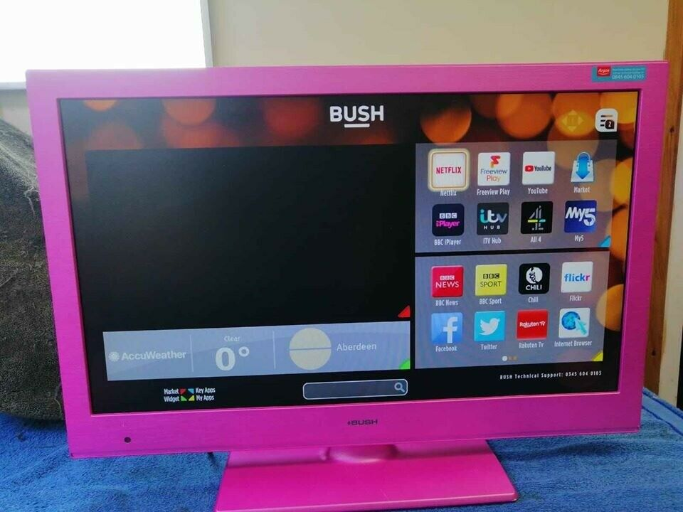 Pink Bush 24 Smart Tv With Dvd In