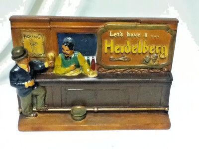Heidelberg bar beer sign chalk chalkware statue vintage figure Columbia old MQ8