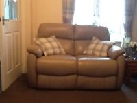 2 x 2 seater leather sofas excellent condition