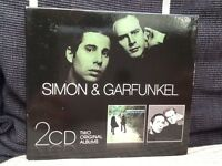 Box set of Simon and Garfunkel Bookends and Sounds of Silence CDs