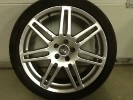18INCH 5/100 RS4 ALLOY WHEELS WITH TYRES FIT VW AUDI SEAT ETC