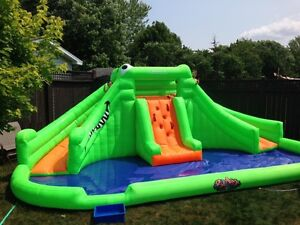 Pool waterslide blowup