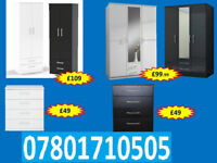 WARDROBE WARDROBES TALLBOY CHESTS BRAND NEW FAST DELIVERY 5044