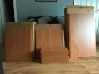 Brand new Cherry Wood Kitchen cupboard and drawers fronts need gone asap!!