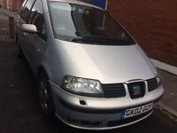 7 Seater 2002 alhambra seat,