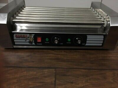 Stainless Steel Electric Commercial 18 Hot Dog 7 Roller Grilling Machine-missing