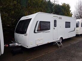 Lunar Clubman SE 4 Berth caravan 2013, FIXED BED, MOTOR MOVER, Bargain !!!