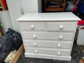 solid pine chest of drawers - free delivery