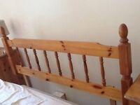 Pine Head Board Double Bed Standard Size