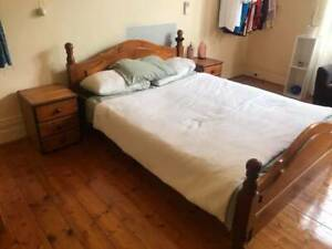 Free delivery solid timber queen bed suite  and free old mattress