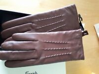 Tan leather gloves brand new