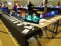 Stratford Computer Fair Open This Sunday. Computers, Laptops, MacBooks, Tablets, Phones, Repairs etc