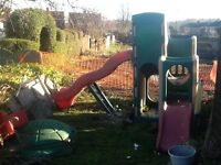 Large little tykes 6 in 1climbing frame + large turtle sand pit £40