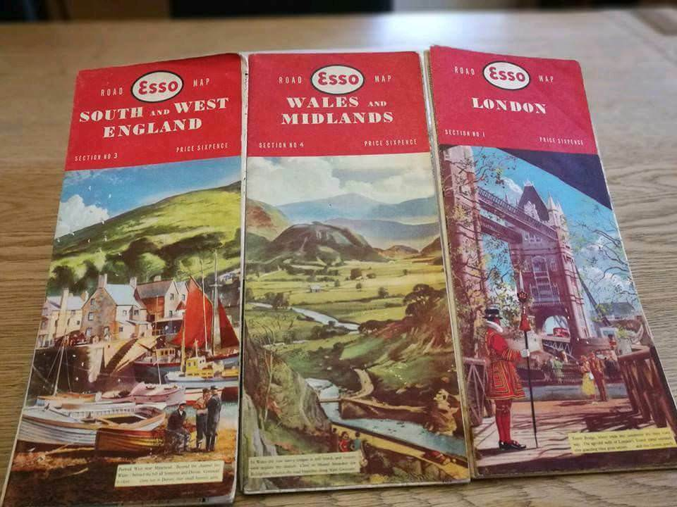 Vintage Esso road maps x 3