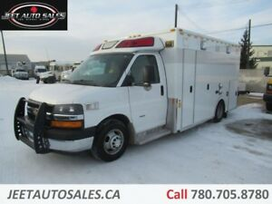 2012 Chevrolet 3500 Express Diesel Van with Ambulance body