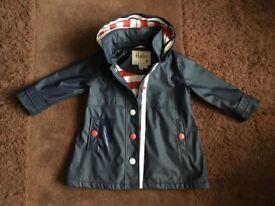 Hatley blue rain coat in size 3