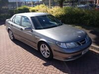 2002 02 Reg Saab 9-5 2.0 Turbo Vector, Petrol, Manual, 4 Door, Metallic Grey, Long MOT February 2017