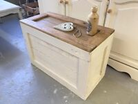 ***Reclaimed Wood Blanket Box***£60***FREE DELIVERY***