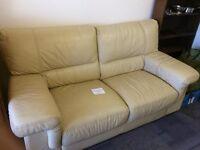 good condition leather sofa
