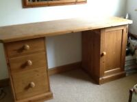 Solid Pine Dressing table or desk good condition