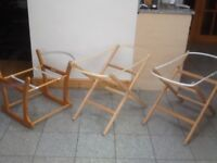 Moses basket stands-foldable are £5 each and the rocker stands are £10 each