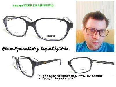 Boxy Squared Vintage Inspired Rx Ready Eyeglass Frame Hipster Style (Vintage Inspired Eyeglasses)
