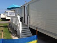 3 bedroom 8 berth static caravan in towyn north wales for rent.