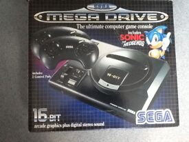 Sega Mega Drive Console in Original Box & 11 Games