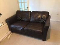 4 seater and 3 seater brown leather DFS sofas only a few years old and in great condition.