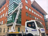 CHERRY PICKER HIRE - 25M WITH IPAF TRAINED OPERATIVE