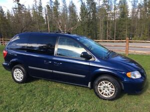 Blue Dodge Minivan