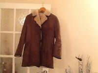 Vintage Ladies Sheepskin Jacket Size 10. Ideal for winter.