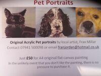 Pet portrait unique Christmas gift idea