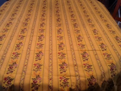 "Vtg French Fabric Flowers Felix Ailhaud ""Tolonet"" Editeur France 3 Yards"