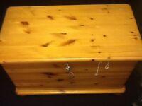 Pine finish storage chest
