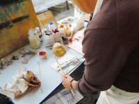 Encaustic Painting (painting with beeswax)