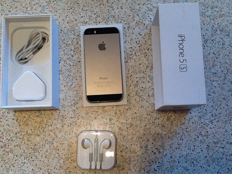 """Apple iphone 5s Black 16GB Vodafone networksin Penylan, CardiffGumtree - Apple iphone 5s Black 16GB Vodafone networks FULLY BOXED AND COMPLETED comes with Charger plug and Charger cable also ear phone 4.0"""" inches size screen / 8MP rear/ 1.2MP front facing / 1GB RAM / 1560mAh Battery Li Po no marks or any scratches been..."""