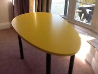 Children's yellow work desk from Ikea