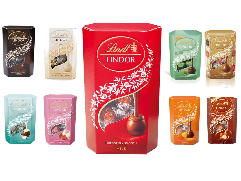Lindt Lindor Milk Chocolate Truffles Cornet 200g All Flavours Christmas Gift Uk