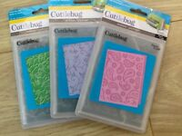 3 cuttlebug embossing folders ..brand new..