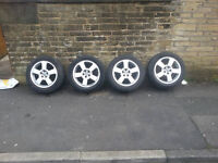 "16"" SKODA ALLOY WHEELS VW AUDI SEAT 5 STUD 5X100"