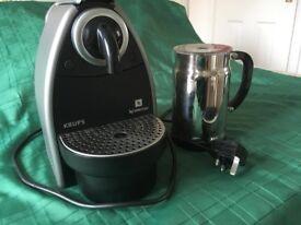 Krups Nespresso Aeroccino & coffee machine