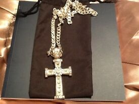 Silver cross with Stirling Silver chain.