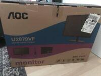 """Ultra HD Monitor 28"""" (AOC) UNDER WARRANTY"""